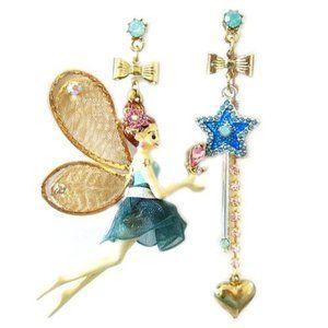 BETSEY JOHNSON - Mismatch Fairy and Wand Earrings